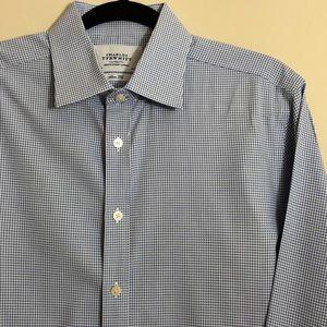 Charles Tyrwhitt Slim Fit Cuff Blue Shirt Size M